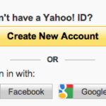 Yahoo Registration Sign Up Page