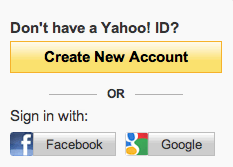 Yahoo Registration Sign Up Page